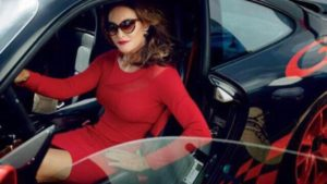Caitlyn Jenner Sports Car Red Dress