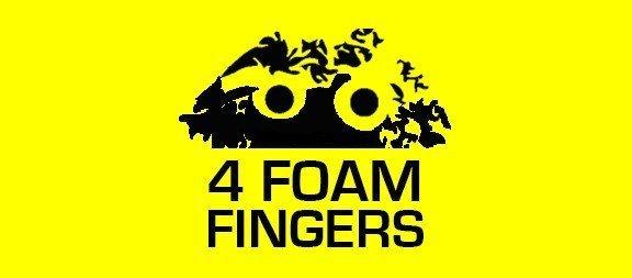 4 Foam Fingers